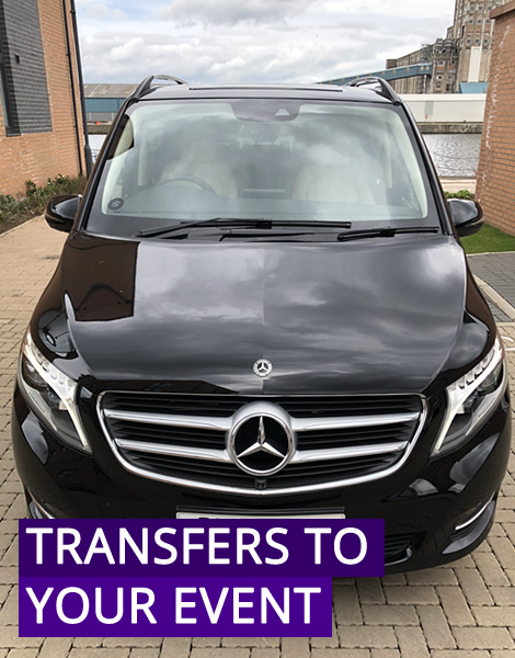 Luxury Mercede Benz V-Class event transfer